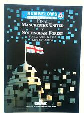 MINT 1992 Manchester United v Nottingham Forest League Cup Final