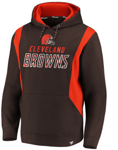 A5 Mens XL Cleveland Browns Fanatics Branded Iconic Color Block Pullover Hoodie