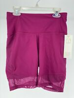 "All In Motion Womens Sz Small High Rise 7"" Athletic Shorts Pink Purple Contour"
