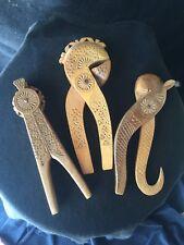Folk Art Antique Wooden Nut Crackers