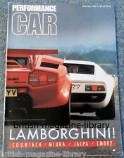 Performance Car '86 Lamborghini Countach v Miura Jalpa LM002 Peugeot 205 GTi 1.9