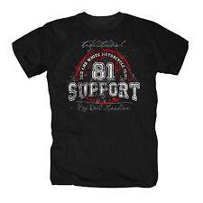 Hells Angels Support 81 AC/AB Eightyone Big Red Machine Harley MC 1% S-XXXL