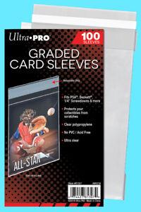 100 ULTRA PRO GRADED RESEALABLE CARD Sleeves PSA Beckett Screwdown Bag Slab Soft