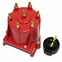 GM 90° V6 262 ci 4.3 6-Cylinder TBI EFI Distributor Cap & Rotor Kit Red Chevy