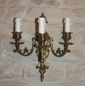 French Wall Light (Three branch) Brass