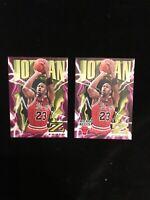 Jordan 96 Skybox  Z Force #11 Base Card And Sticker