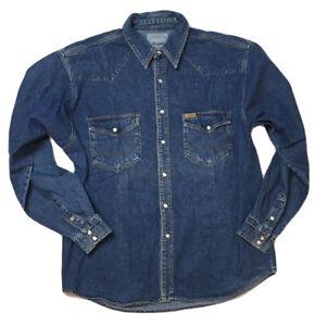 *Vintaga* Wrangler Hemd Jeanshemd Langarm Vintage Gr. XL