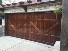 Gabriel Design - [9' x 8'] Barn Style Custom Mahogany Wood Garage Door