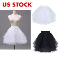 US Kids Petticoat Underskirt Crinoline Slip Tutu Skirt For Flower Girls Dress