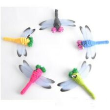 5pcs Pet Cat Teaser Wand Rod Chase Toys Replacement Refill Plush Dragonfly
