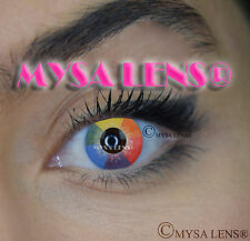 Crazy Coloured Contact Lenses Kontaktlinsen color contact lens Rainbow
