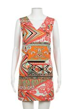 NEW MSGM Dress Small Orange Green Floral Sleeveless Shift Cocktail Wedding NWT