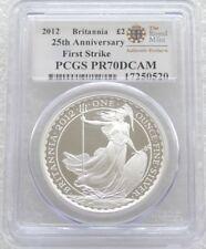 2012 Great Britain Britannia £2 Two Pound Silver Proof 1oz Coin PCGS PR70 DCAM