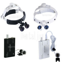 Dental Medical LED Head Light Loupe /Magnifier 3.5X Loupes Surgical Binocular
