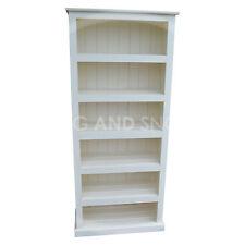 HANDMADE DEWSBURY SOLID PINE 5 SHELF BOOKCASE WHITE (ASSEMBLED)