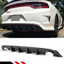 For 15-19 Dodge Charger SRT R/T Scat Pack Carbon Fiber Look Rear Bumper Diffuser