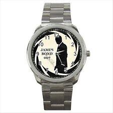 Reloj de pulsera nuevo * caliente de James Bond 007 Regalo Calidad deporte Metal D04
