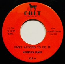 HOMESICK JAMES~Can't Afford To Do It & Set A Date~Very Rare Blues 45~COLT #632
