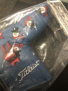 BNIB!! Scotty Cameron 2003 Dancing Snowmen Putter Headcover w/ Divot Tool Rare.