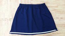 5b15c9946f ADULT L XL NAVY BLUE ELASTIC WAIST Cheerleader Uniform A-Line Mini Skirt 32-