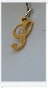 ANTIQUE FRENCH VINTAGE INITIAL S  SOLID 18 CARATS GOLD  PENDANT/CHARM