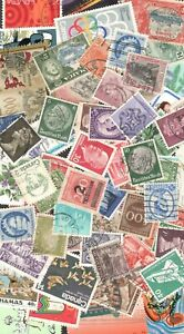 Worldwide Postage Stamps 50+ Used & Mint Off Paper FREE SHIPPING