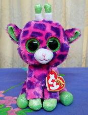 *Ty Beanie Boos ~ GILBERT the Pink and Purple GIRAFFE 15cm *