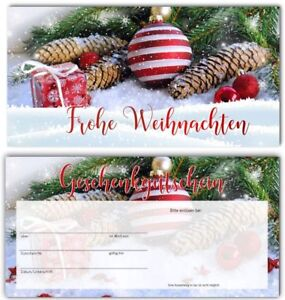 Geschenkgutscheine Gutscheinkarten Vintage Weihnachten Wellness Massage