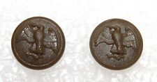 WWII US Wac Walking Eagle 5/8in 16mm 24L brown plastic buttons lot of 2 B1919