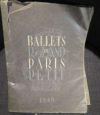 BALLETS DE PARIS ROLAND PETIT 1949 illustration Leonor Fini théatre Marigny