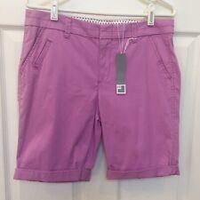 JCP Womens Sz 8 Honolulu Orchid Flat Front Shorts New *