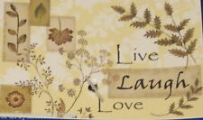 Live Laugh Love Tapestry Kitchen Mat Rug 19 x 27 Natco Home