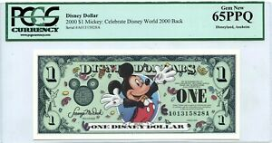 US $1 DISNEY DOLLAR 2000 MICKEY CELEBRATE DISNEY WORLD LUCKY MONEY VALUE $300