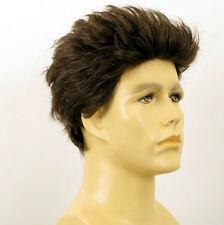 Perruque homme 100% cheveux naturel châtain ref ALBERT 6spw