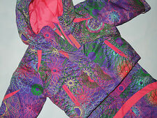 COLUMBIA baby girl's Buga purple & pink snowsuit bib pants & Jacket 6 Months