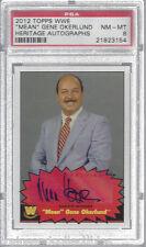 2012 TOPPS WWE HERITAGE AUTOGRAPHS GENE OKERLUND AUTO CARD PSA 8 NM-MT #21823154