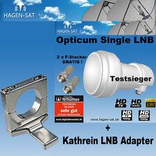 Kathrein  Astro LNB Adapter + Opticum Single LNB für 1 Teilnehmer SAT HDTV 3D HQ