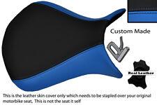 LIGHT BLUE & BLACK CUSTOM 07-08 FITS KAWASAKI NINJA ZX6R FRONT SEAT COVER