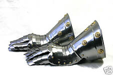 Platten Ritter Handschuhe Larp Rüstung Helm Ritterhelm Reenactment sca  R21C