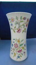 Minton Haddon Hall 23cm bone china fluted vase