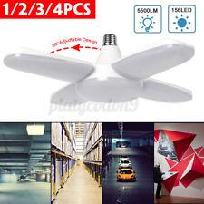 60W 156 LED Garage Light Deformable Bulb Ceiling Fixture Shop Work Lamp 1-4 PCS