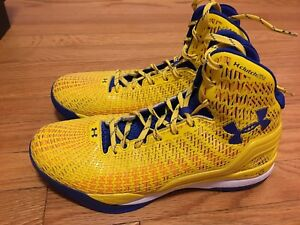 Under Armour Clutchfit Drive Stephen Curry PE yellow blue 10.5 USED GREAT