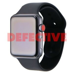 DEFECTIVE Apple Watch Series 3 Space Gray 42mm A1861 (GPS+Cellular)