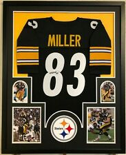 FRAMED PITTSBURGH STEELERS HEATH MILLER AUTOGRAPHED SIGNED JERSEY JSA COA