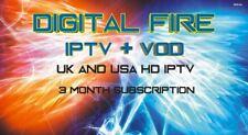 3 MONTH IPTV SUBSCRIPTION TRIAL GIFT  SMART TV MAG BOX 254 256 ZGEMMA ENIGMA 2