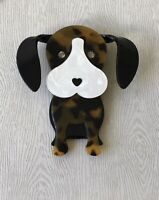 Unique Large Dog Pin Brooch In acrylic