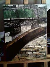 toile- peinture -- Le Pont des Arts  / peinture Huile - Avril 2009 -