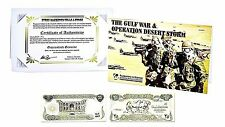 Gulf War & Operation Desert Storm Folder,Iraq 25 Dindars Banknote and Story