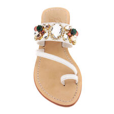 dc4f313deac9b Pasha  St. Cyricus  Crystal Embellished Leather Sandals