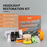 Professional Car Headlight Lens Restoration Repair Kit Polishing Cleaner Tools